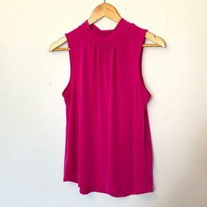 🌸 2/$20 Mock Neck Pink Sleeveless Blouse
